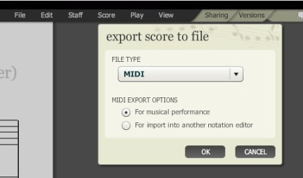 Noteflight export