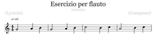 esercizio flauto